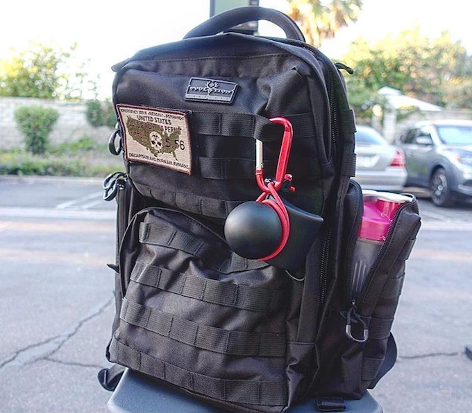 The UBALL is clipped to an EOD Tactical Backpack.