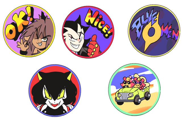 Buttons and Stickers!