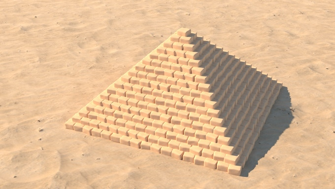 A large 5x5 pyramid WIP