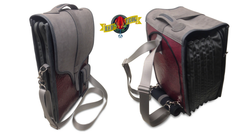 Red Frog 3in1 Sun Bag:Expandable Briefcase/Backpack/Carryon