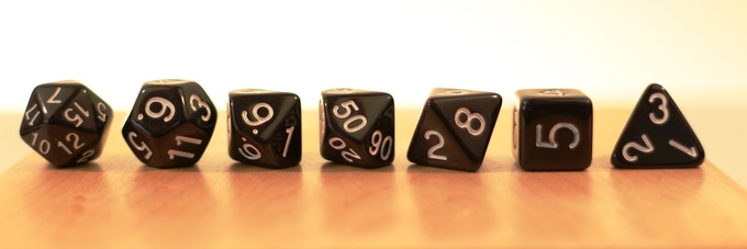 when viewed from the side its easy to see the perfect proportion of the dice to each other.