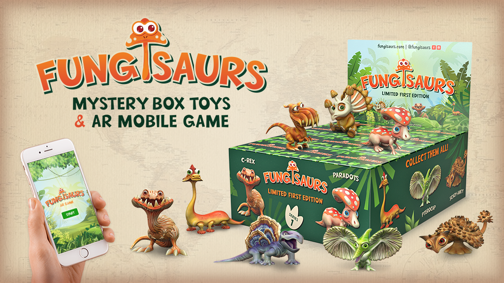 FUNGISAURS Mystery Box Toys & AR Mobile Game project video thumbnail