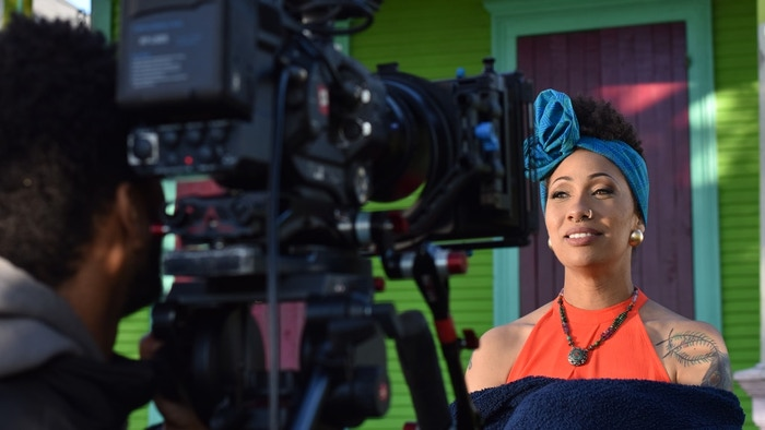 Poet Sunni Patterson, the subject of the short film Artist in Exile