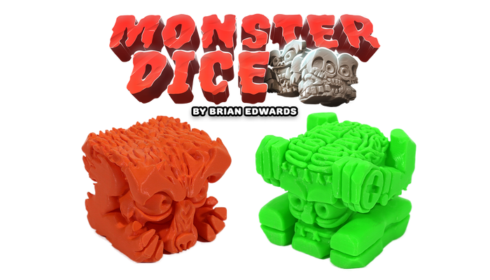 Monster Dice combines the intricate details found in miniature figures with the fun of rolling dice. Includes 7 games in a pocket-sized box.