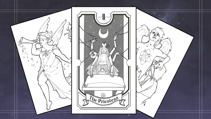 Coloring Book Above You Can See The Prototypes To Start On An Atomic Tarot This Will Be Our Third And Largest Date