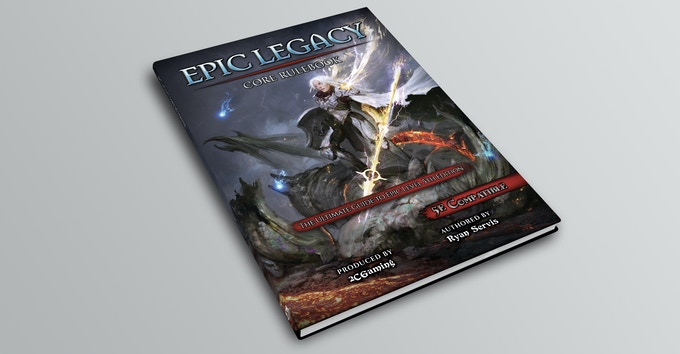The Epic Legacy Core Rulebook (Mockup, 190pgs approx.)