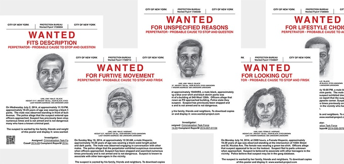 Wanted posters (set of 5)