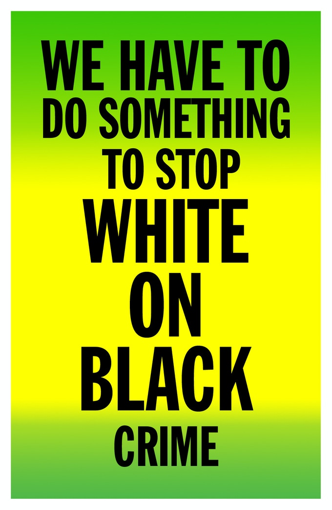 Stop White on Black Crime poster