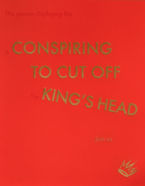 Conspiring to Cut Off the King's Head, print