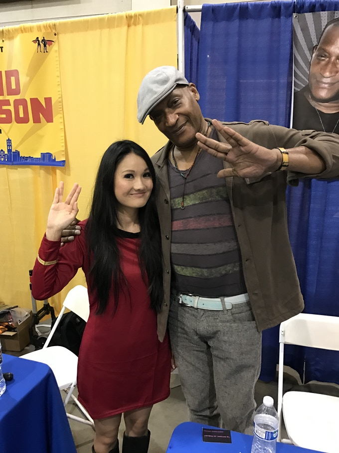 Actor Tony Todd with Co-Creator Yvonne Wan