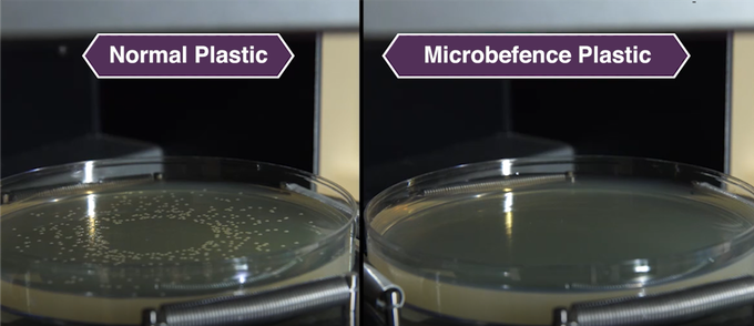 "Microbefence plastic proven to be leach-free, non-toxic and will not give rise to drug-resistant ""Superbugs""."