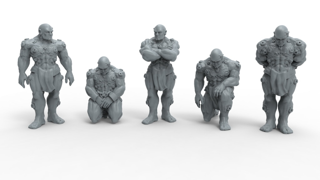 28mm Unarmoured Marine Squads project video thumbnail