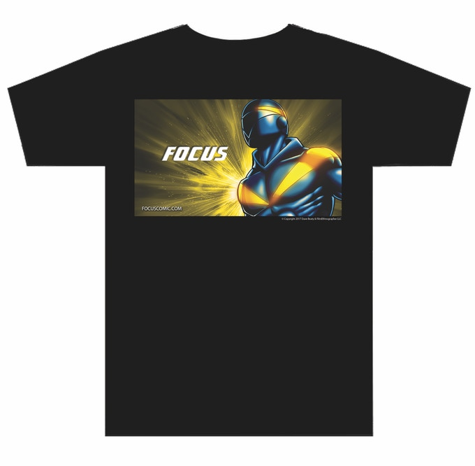 Focus Tee shirt, Choose any size you want