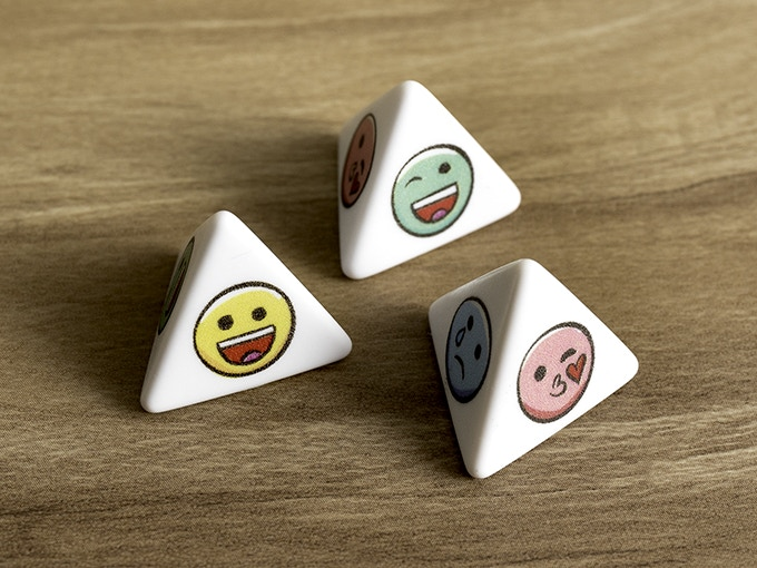 Four sided D4 dice