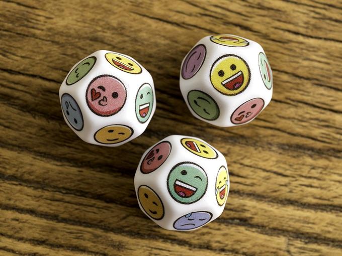 Twelve sided D12 dice