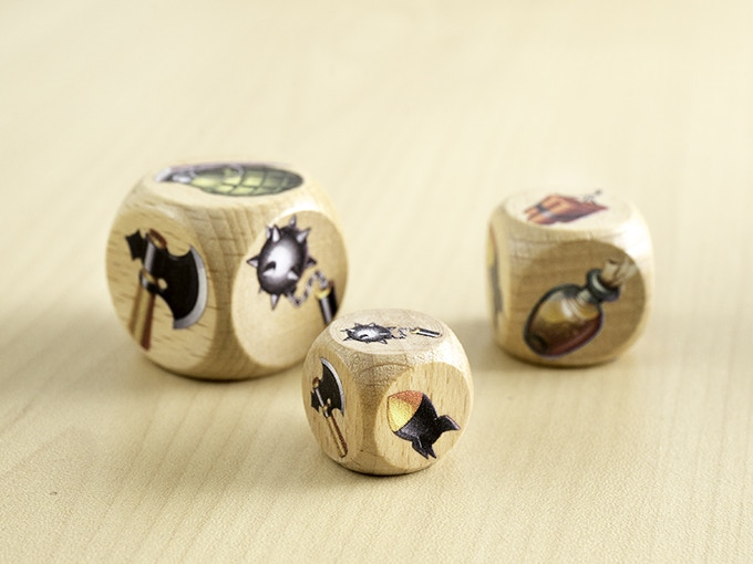 Wooden dice with round corners