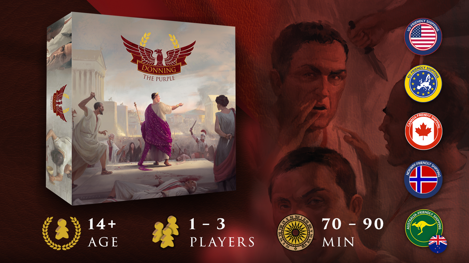 How would you rule the Roman empire?  Show your true colors in this asymmetrical king of the hill game for 1-3 players.