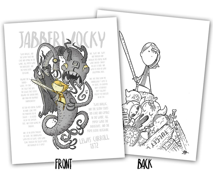 Jabberwocky: A Nonsense Coloring Book by Justin Hillgrove