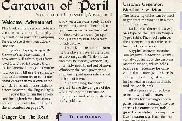 "Download an excerpt for ""Caravan of Peril"" here!"