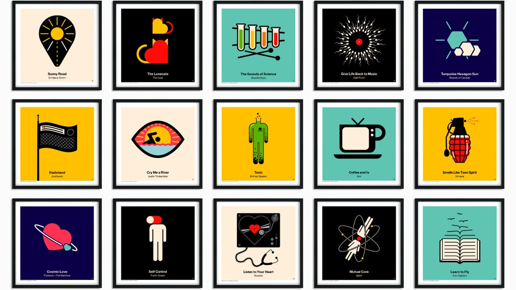 Pictogram Vinyl Posters project video thumbnail