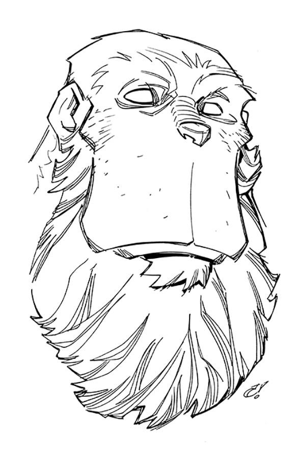 BIG head sketch