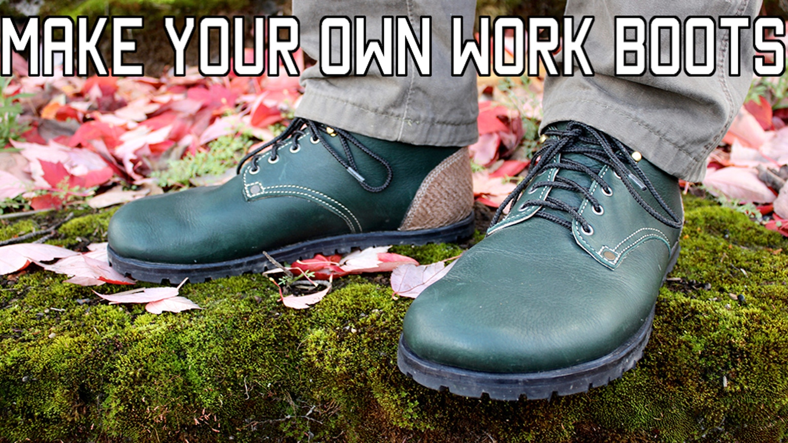 Make your own Foot-Shaped Work Boots! Instructional video