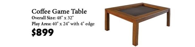 Click here to read more about the Coffee Game Table on our website!
