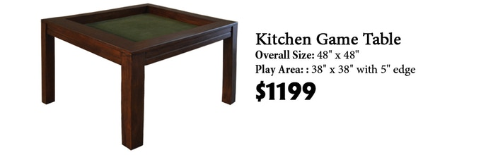 Click here to read more about the Kitchen Game Table on our website!
