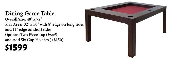 Click here to read more about the Dining Game Table on our website!