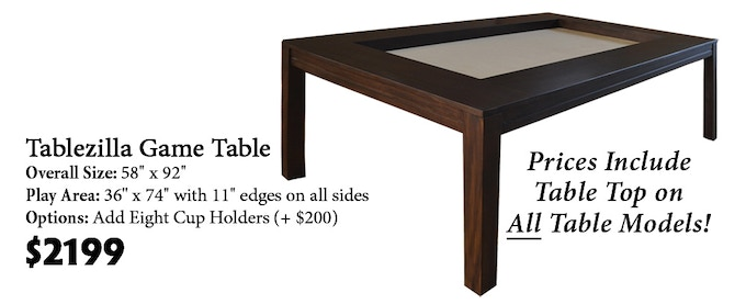 Click here to read more about the Tablezilla Game Table on our website!