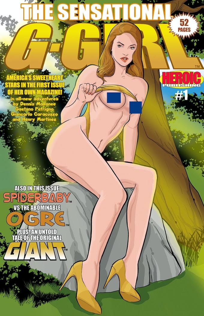 The naughty cover of Sensational G-Girl #1