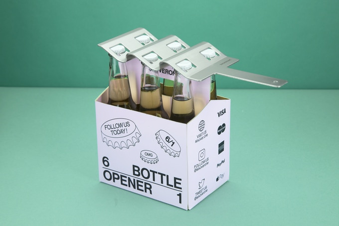 SIXOVERONE: The Six Pack Bottle Opener