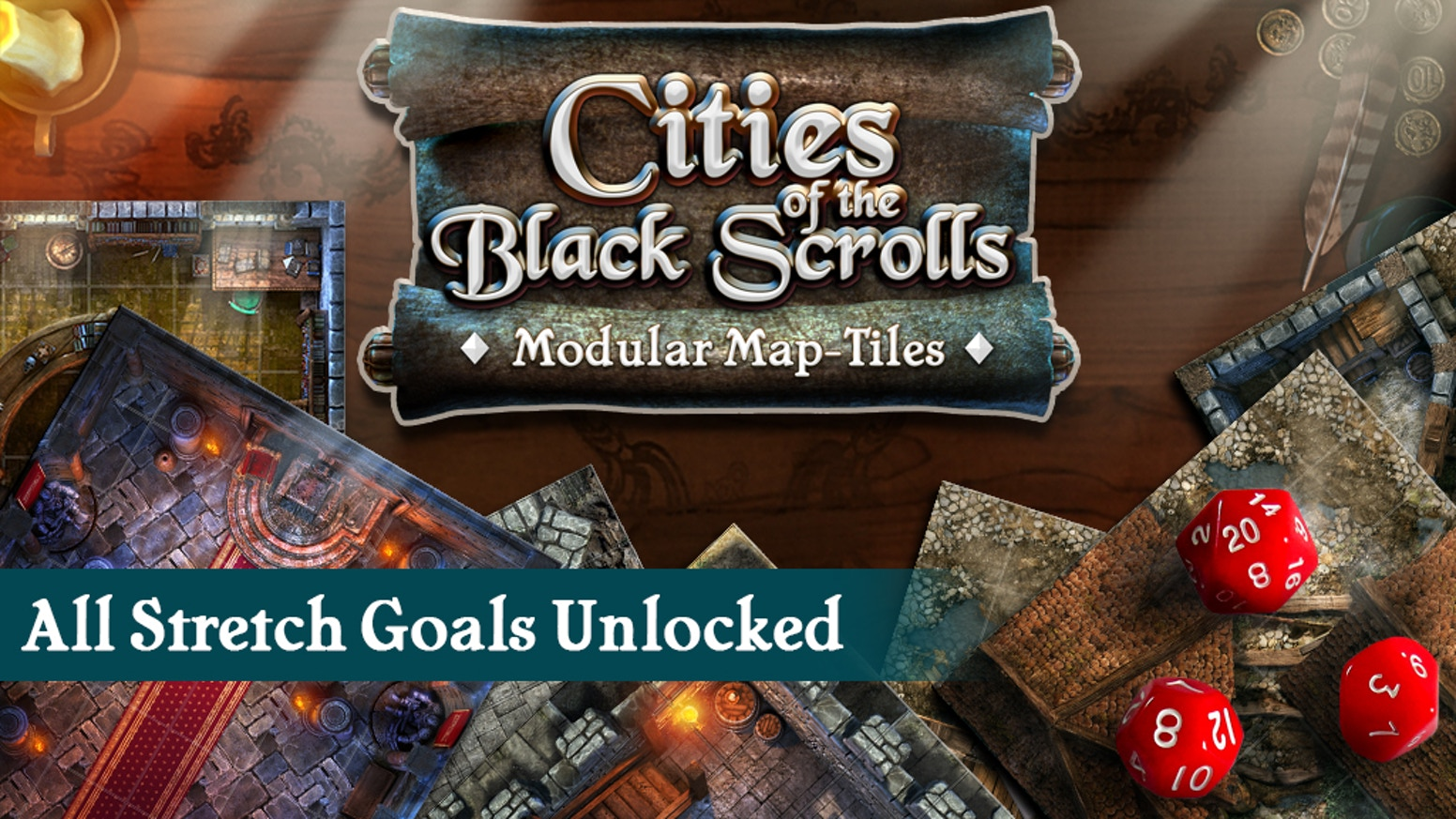 Cities of the Black Scrolls - Modular Map-Tile Sets by Black Scrolls