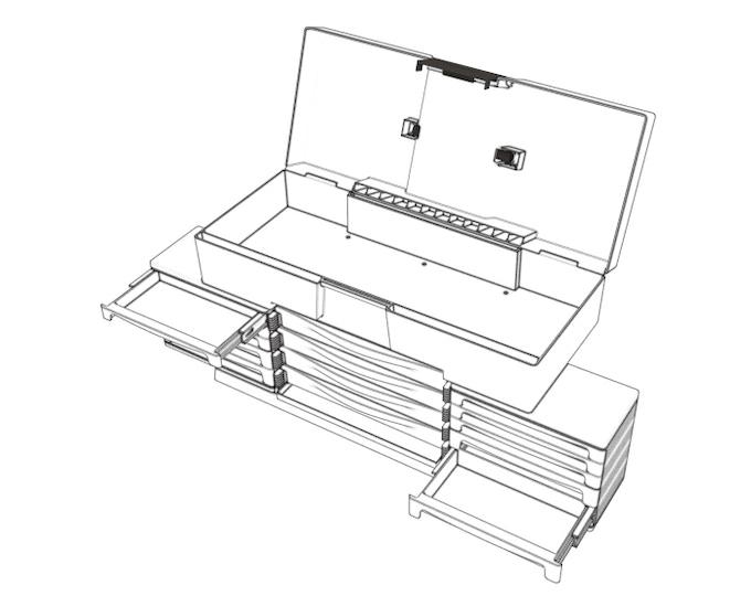 BrickLab: A custom designed, portable LEGO® storage