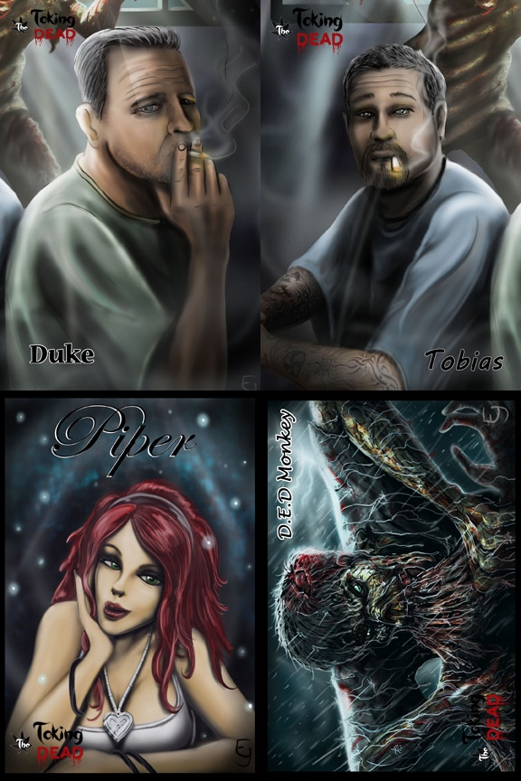 The Character cards, set of four