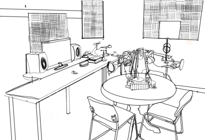 Rough rendering of home studio (credit: M. Colonna)