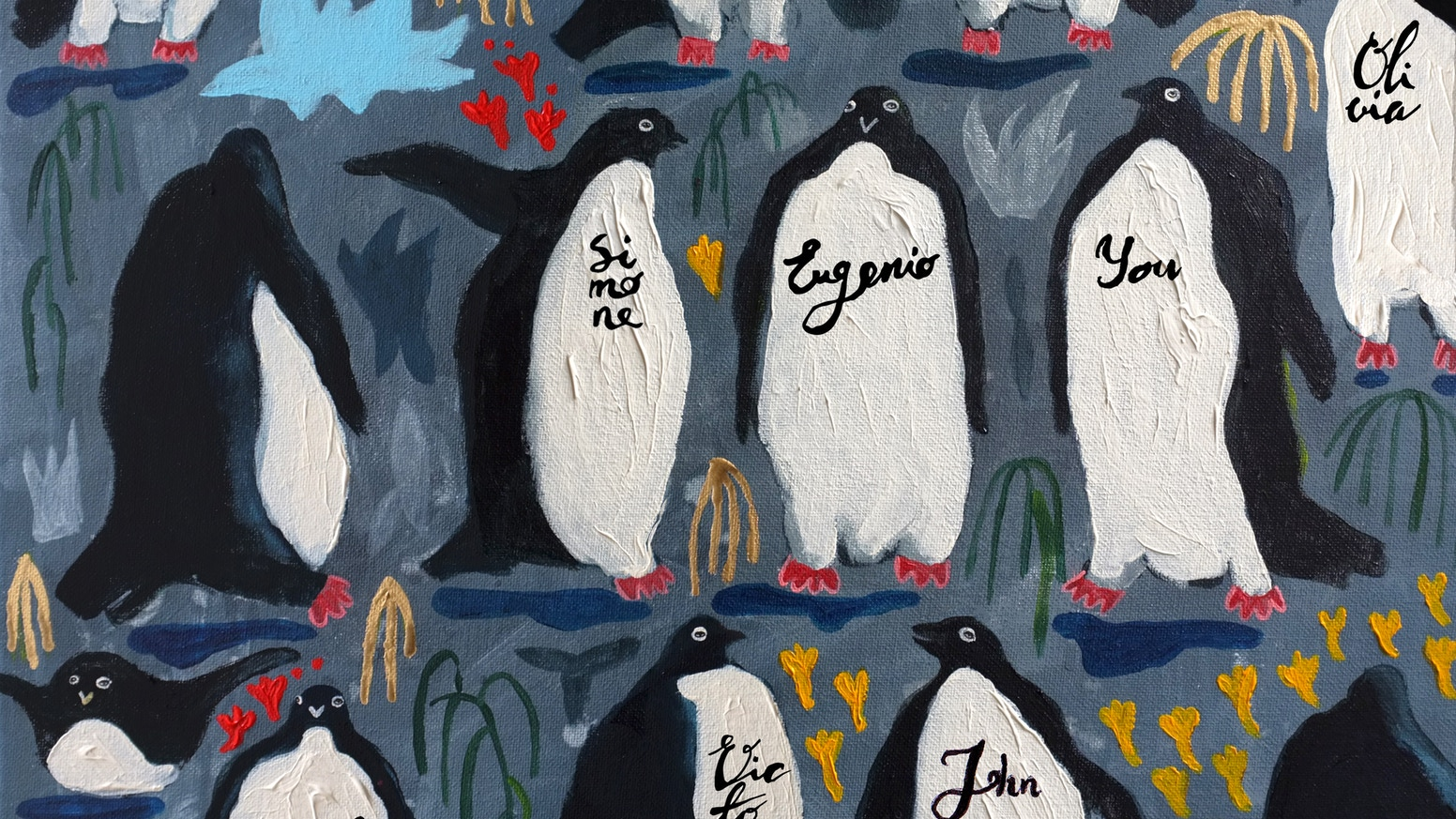 An Art commission project to raise awareness of endangered Penguins colonies