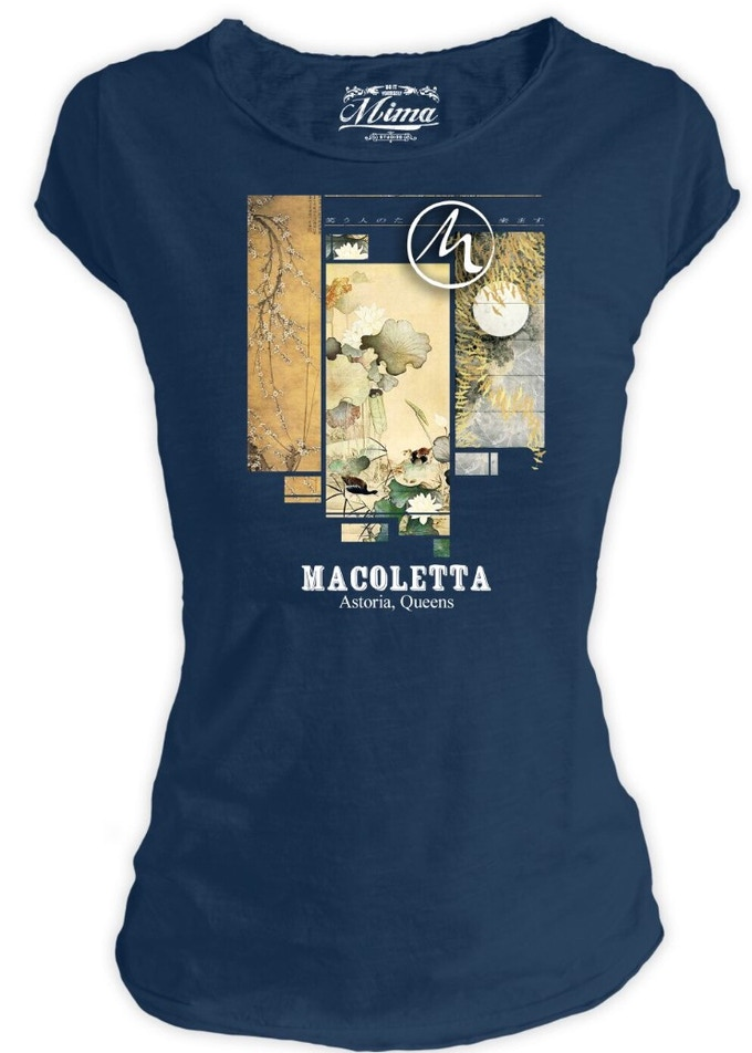 This is not a boring t-shirt, it's the coolest shirt around town. Women's T-shirt half sleeve, round neck, straight bottom. V-neck, sleeves and cut-outs. 100% flamed cotton. Slim fit. MADE IN ITALY.