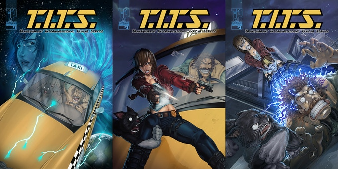 T.I.T.S. #1-3 COVERS