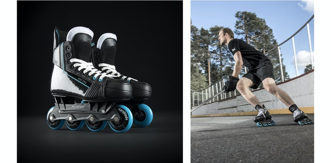 The final version of the Marsblade Roller Frame – in the studio and in action.