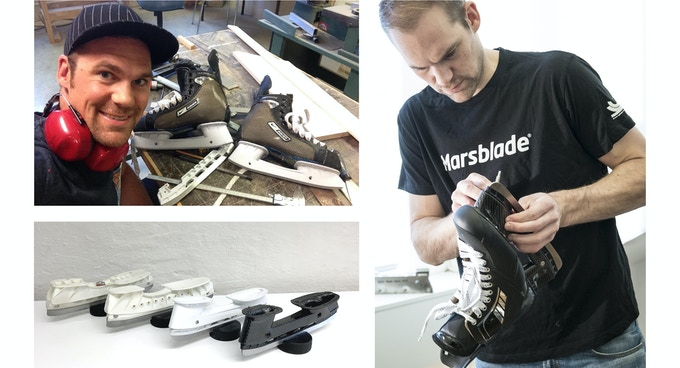 Product development, fine-tuning and the evolution of the Marsblade Ice Holder.