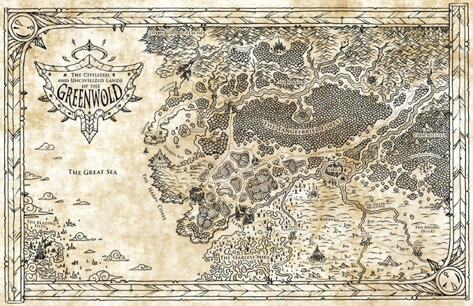 The Civilized and Uncivilized Lands of the Greenwold