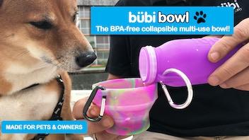 Bubi Bowl- The BPA-free collapsible multi-use bowl!