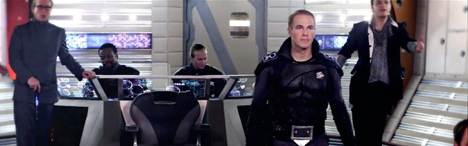 Captain Kemmer faces a difficult decision on the bridge of his ship, The Paladin.