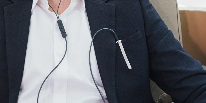 You can clip the Bluetooth Receiver onto your shirt or pocket for a cleaner cable management.