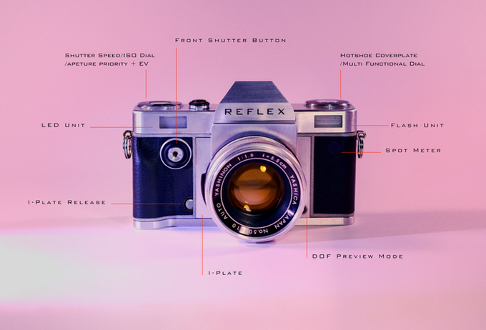 Reflex I 35mm SLR Camera (*Yashica 55mm for display purpose only)
