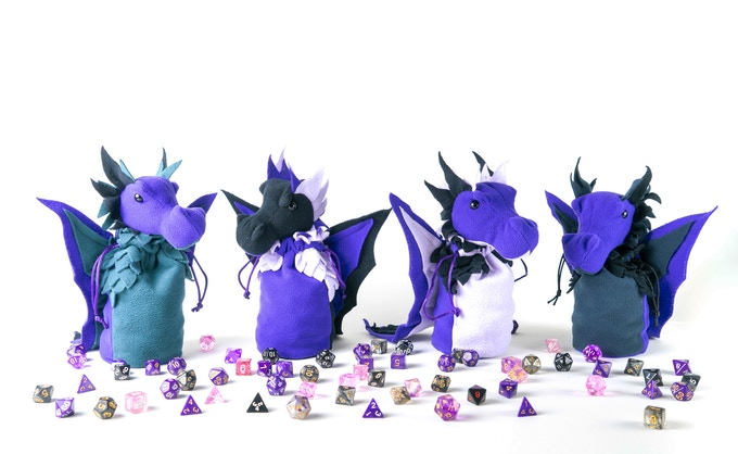 Some of the potential purple colour combos. The one on the far left seems to be most popular so far :)