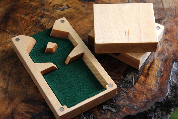 Whtiewood Dice Tower with no Design, no Engraving, and Green Felt.