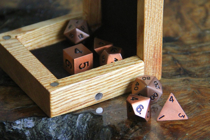 Dice Tower Magnets for our Component Collector.