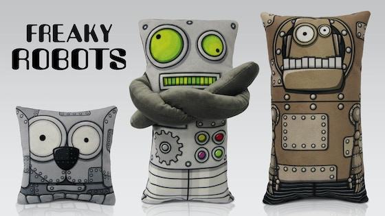 Freaky Robots Plush Toys